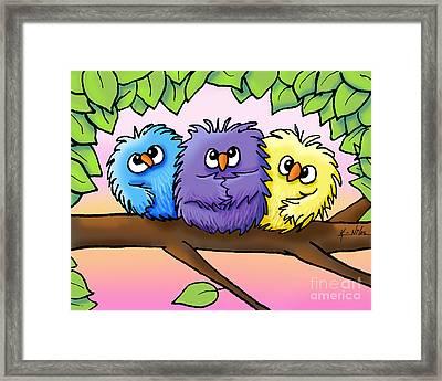 Ditzy Chicks Framed Print