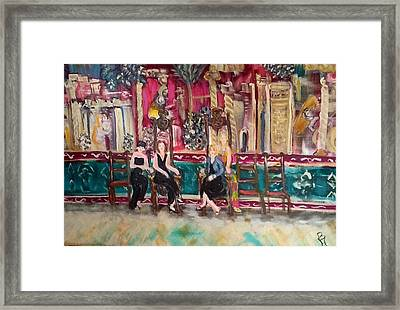 Divas Of Wine At The Great Hall Framed Print by Betty Hoaglund