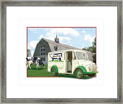 Divco Delivery Truck Framed Print by Dan Knowler
