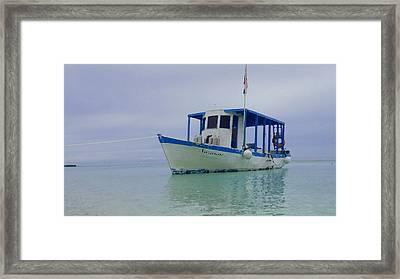 Dive Boat Framed Print