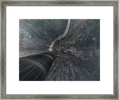 Dive Into The Matrix Framed Print