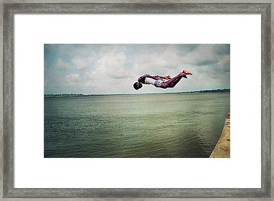 A Dive Into The Ocean Framed Print