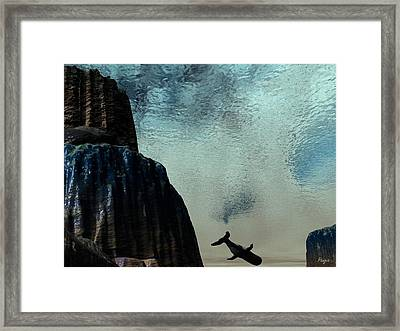 Dive Framed Print by John Pangia
