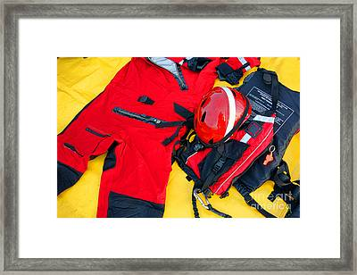 Diver Emergency Rescue Kit Framed Print
