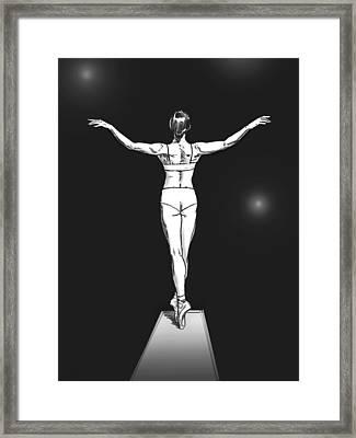 Diver Framed Print