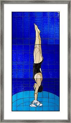 Diver Framed Print by Kimber Thompson