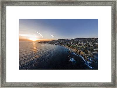 Divers Cove Laguna Beach Aerial Framed Print