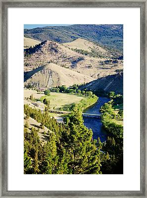 Divide Bridge Framed Print