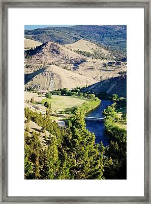 Divide Bridge Framed Print