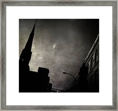Divided  By Belief  Framed Print by Empty Wall