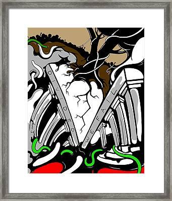 Divided Framed Print by Craig Tilley