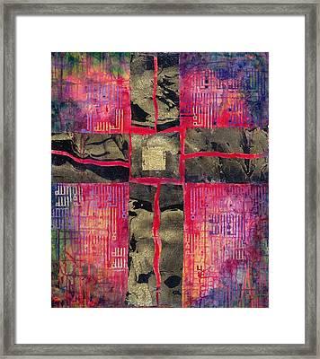 Divided Cross Framed Print