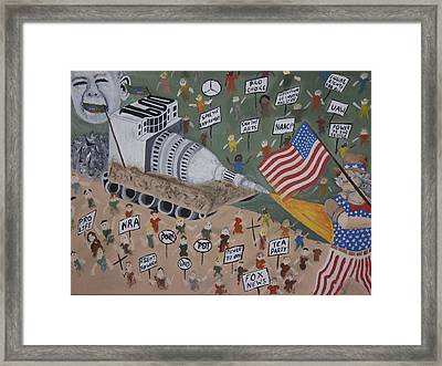 Divided We Stand Framed Print by Dean Stephens