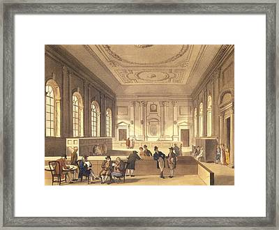Dividend Hall At South Sea House Framed Print