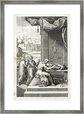 Divination On A Wild Boar's Entrails Framed Print by British Library