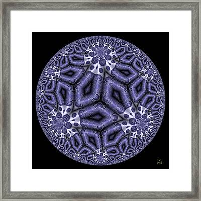 Divinations - Hyperbolic Disk With Pythagoras Tree Fractals Framed Print by Manny Lorenzo