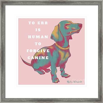 Divine Canine Framed Print by Robin Wiesneth