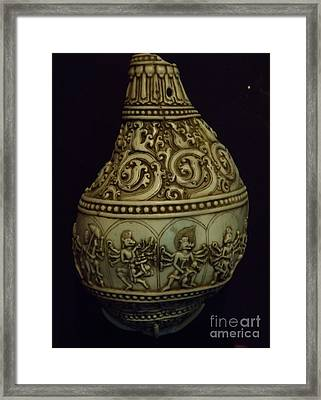 Framed Print featuring the photograph Divine Conch Hindu God Varaha by Brigitte Emme
