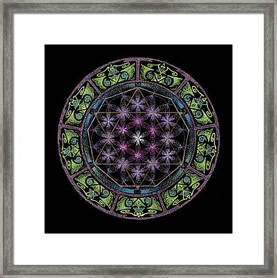 Framed Print featuring the painting Divine Feminine Energy by Keiko Katsuta