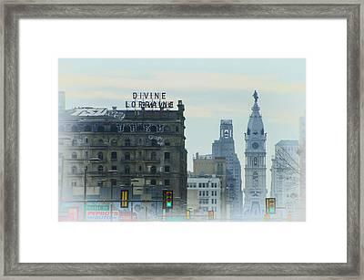 Divine Lorraine And City Hall - Philadelphia Framed Print