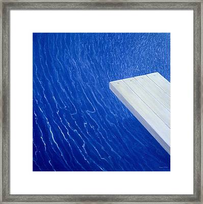 Diving Board 2004 Framed Print