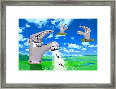 Diving Field. Framed Print by Diskrid Art
