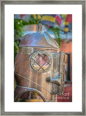 Diving Helmet Key West - Hdr Style Framed Print by Ian Monk