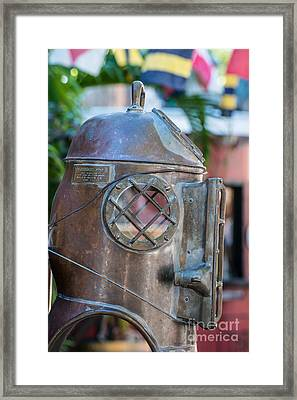 Diving Helmet Key West Framed Print