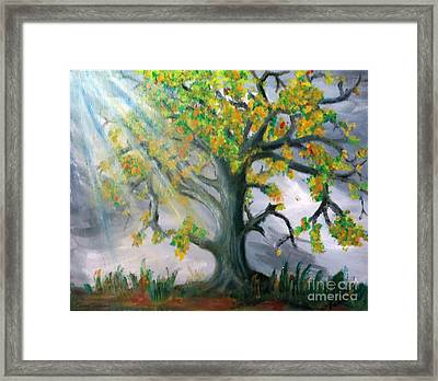 Divinity Inspired Framed Print by Leanne Seymour