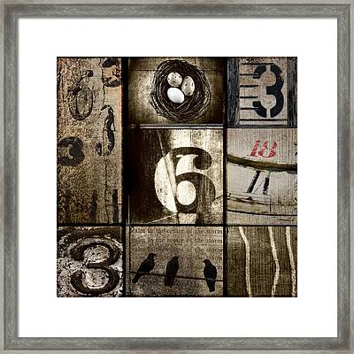Divisible By Three Framed Print by Carol Leigh