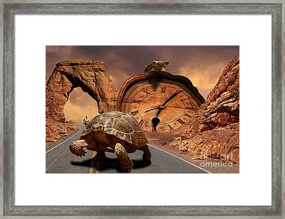 Division Of Time Framed Print by Evgeniy Lankin