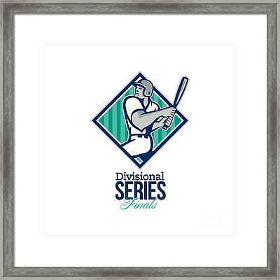 Divisional Baseball Series Finals Retro Framed Print by Aloysius Patrimonio