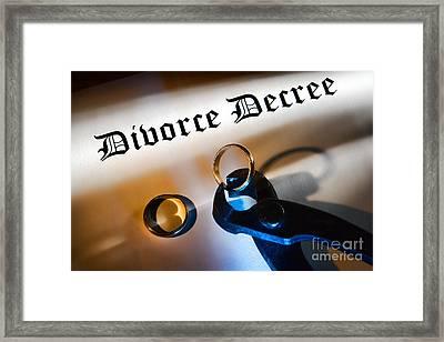 Divorce Decree Framed Print by Olivier Le Queinec