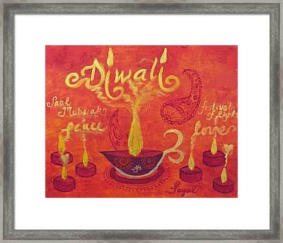 Diwali Lights Framed Print
