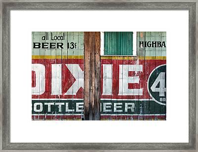 Dixie Beer Framed Print by Chris Moore