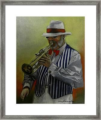 Dixie Music Man Framed Print by Sandra Sengstock-Miller