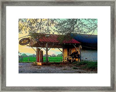 Framed Print featuring the photograph Dixie Oil And Gasoline by Rodney Lee Williams