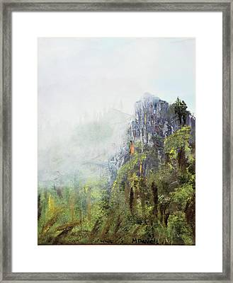 Framed Print featuring the painting Dixville Notch Nh by Michael Daniels
