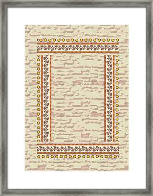 Diy Border Frame Art Template Framed Print by Navin Joshi