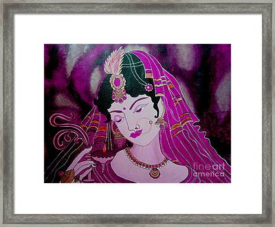 Diya Girl				 Framed Print by Priyanka Rastogi