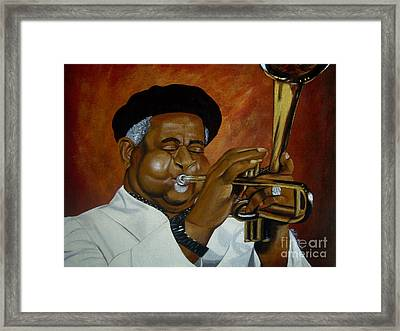 Dizzie Gillespie In Color Framed Print
