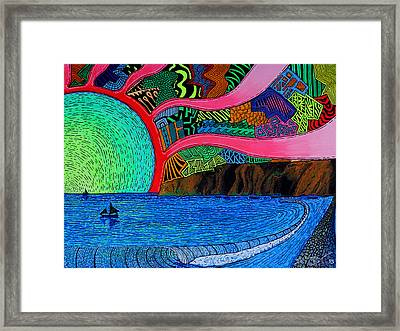 Dizzy Dana Point Framed Print by Sam Bernal