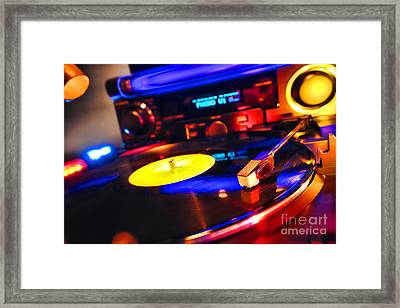 Dj 's Delight Framed Print