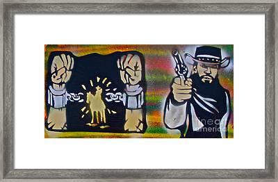 Django Gunnin' Framed Print by Tony B Conscious