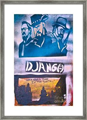 Django Once Upon A Time Framed Print by Tony B Conscious