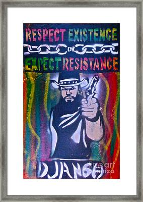 Django Rasta Resistance Framed Print by Tony B Conscious