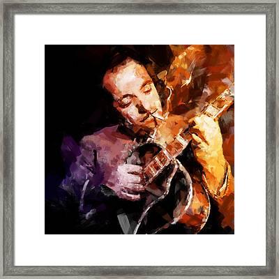 Django Reinhardt Framed Print by Andy Whorewal