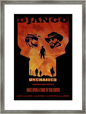 Django Unchained Alternative Poster Framed Print by Sassan Filsoof
