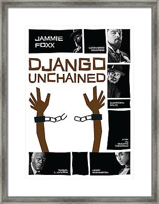 Django Unchained Poster Framed Print by Geraldinez