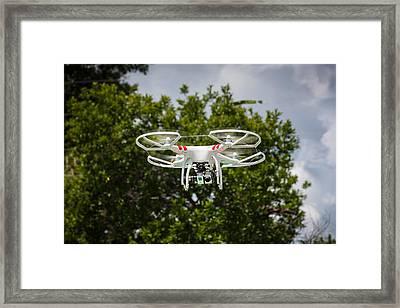 Dji Phantom 2 Drone With Go Pro Hero 3 Framed Print